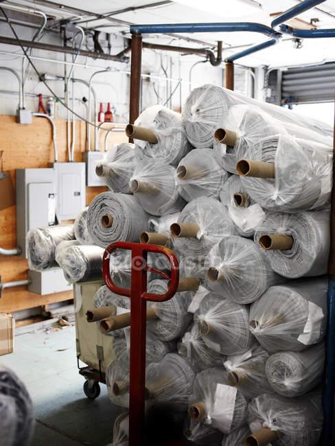 Garment cutting factory — Stock Photo