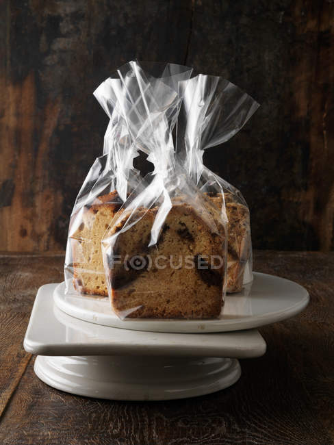 Cakes in gift bags — Stock Photo