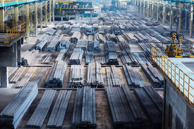 Steel blocks on manufacturing plant — Stock Photo