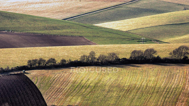 Agricultural rolling hills landscape view — Stock Photo