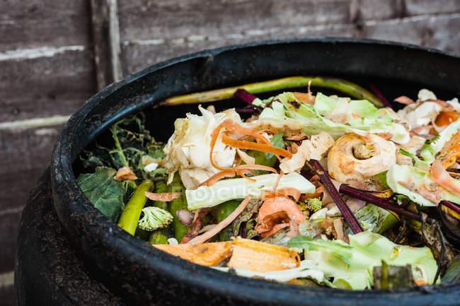 Home compost bin — Stock Photo