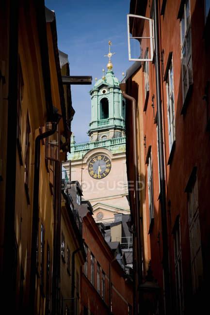 Нижній вид Storkyrkan, Стокгольм, Швеція — стокове фото