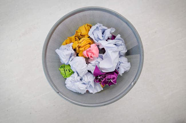 Paper waste basket — Stock Photo