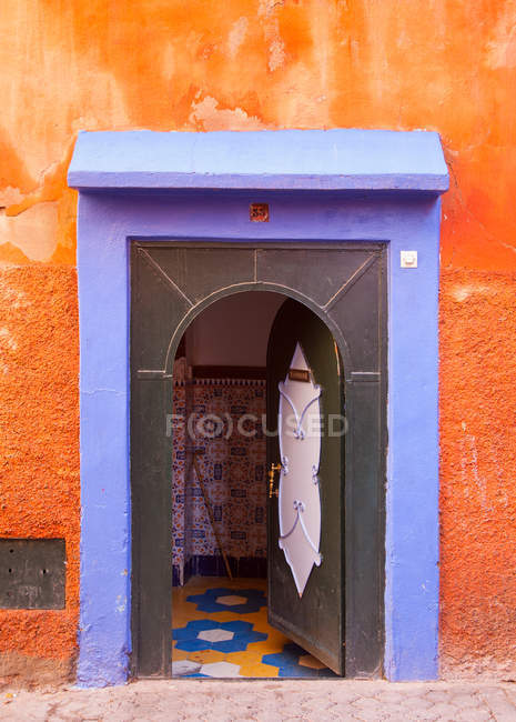 View of Colorful ornate doorway — Stock Photo