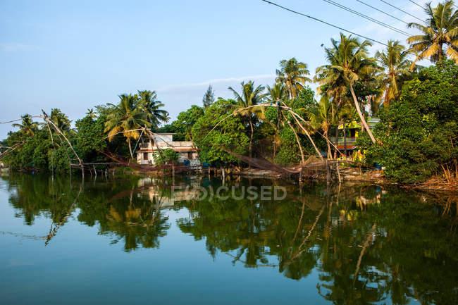 Китайські рибальські мережі, Кочі, Керала, Індія — стокове фото