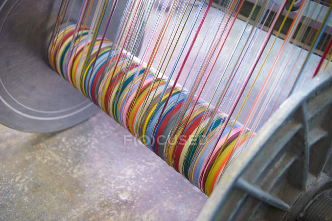 Multicoloured silk yarn — Stock Photo
