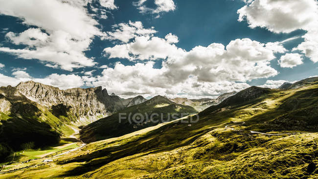 Clouds over rural landscape — Stock Photo