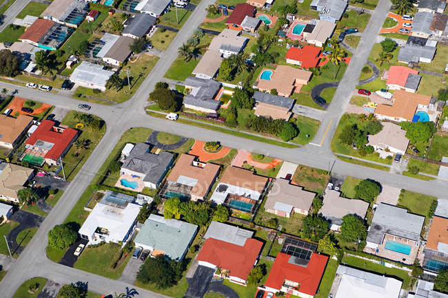 Houses on florida east coast — Stock Photo