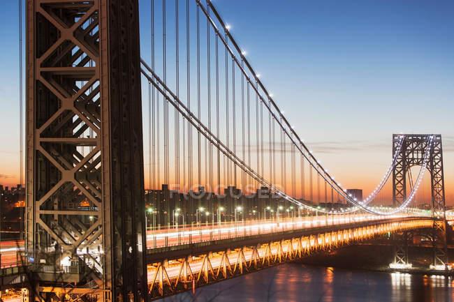 Ponte George Washington al tramonto — Foto stock
