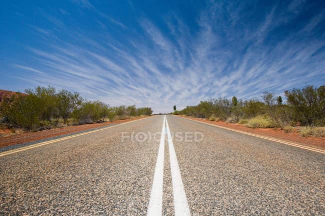 Поверхности уровня вид отмеченные дороги — стоковое фото
