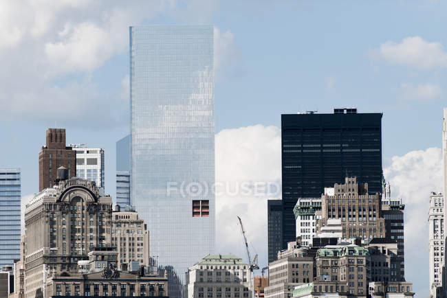 New York City buildings in sunlight, États-Unis — Photo de stock