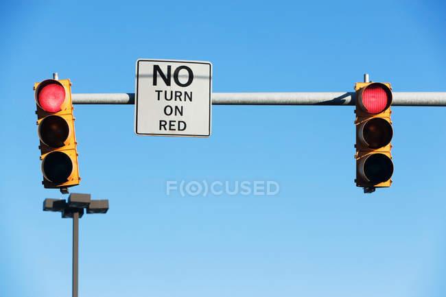 Ніяких ознак повороту — стокове фото