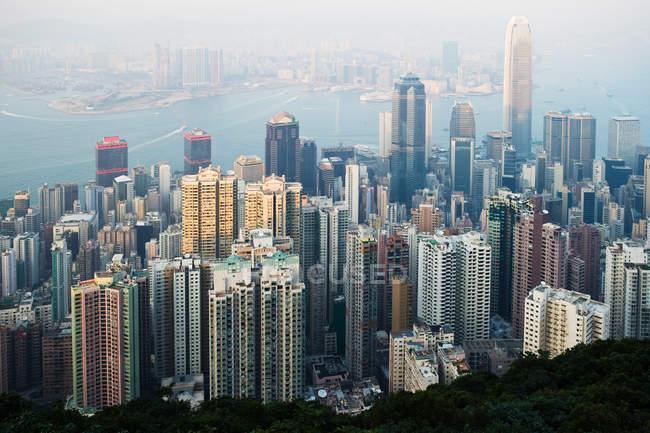 Luftaufnahme der Stadt Hongkong — Stockfoto