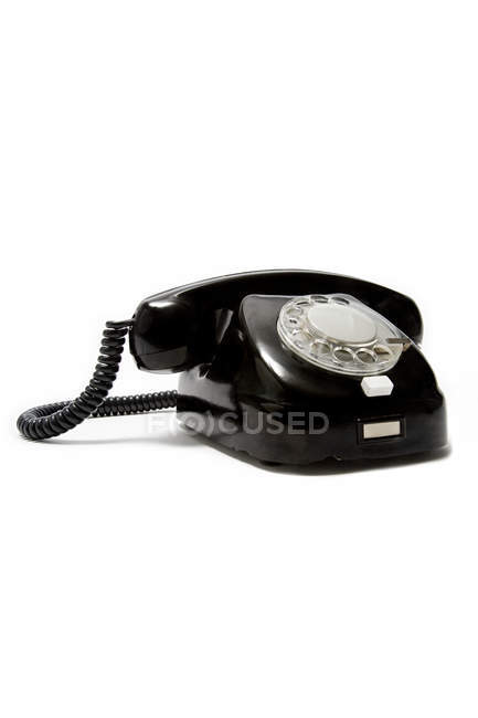 Vintage black Telephone isolated on white — Stock Photo