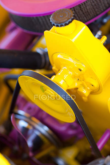 Purple car engine — Stock Photo