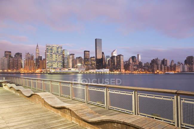 Nova Iorque skyline cidade — Fotografia de Stock