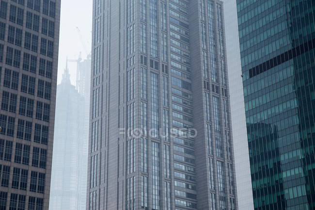 Large skyscrapers in Shanghai — Stock Photo