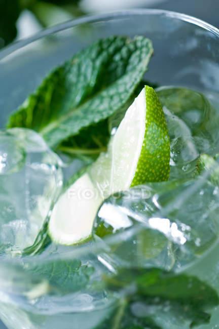 Mojito cocktail im Glas — Stockfoto