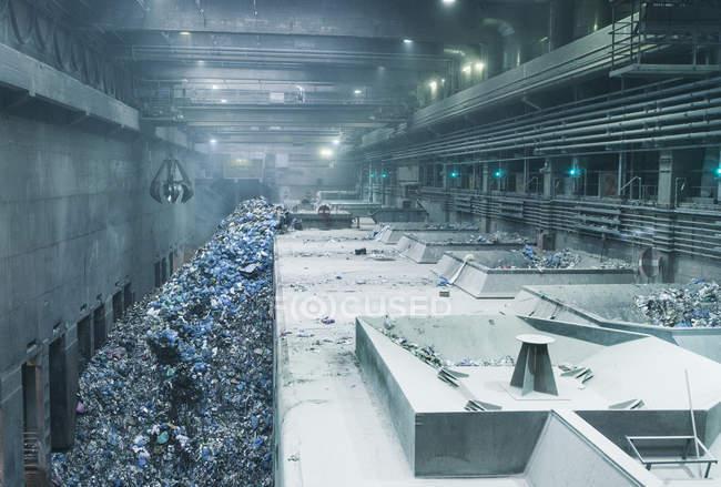 Depósito de reciclagem de sucata metálica — Fotografia de Stock