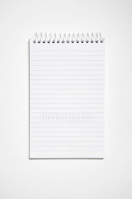Blank lined Notebook, top view — Stock Photo