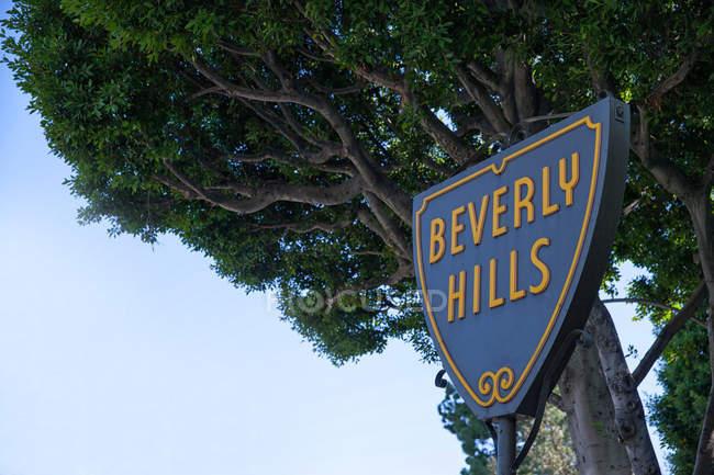 Sinal de Beverly hills — Fotografia de Stock