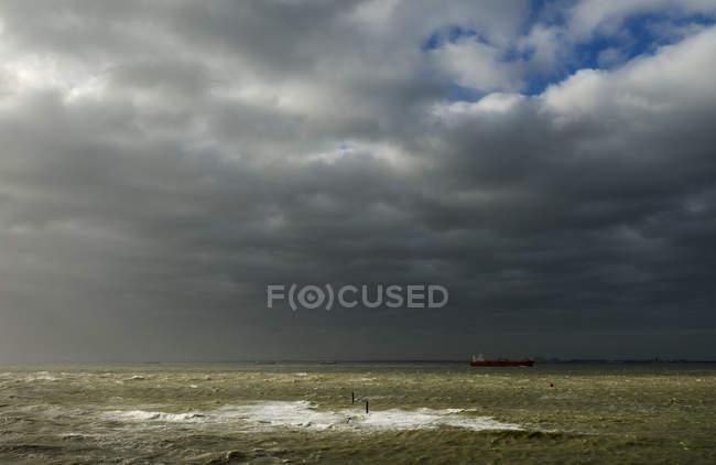 Tempesta sul fiume Schelda occidentale — Foto stock