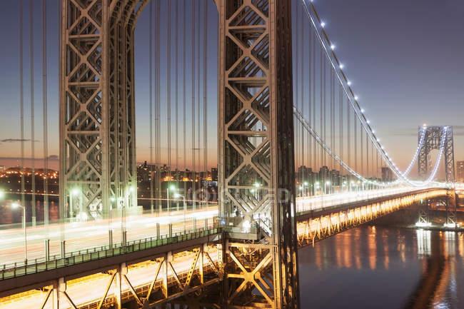 George Washington Bridge al crepuscolo, New York, USA — Foto stock