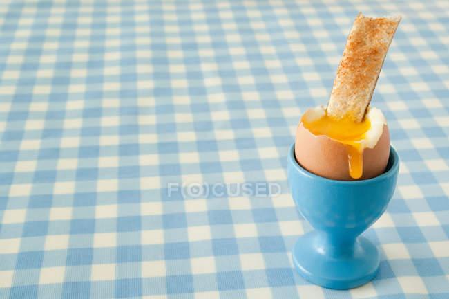 Gekochtes Ei und toast — Stockfoto