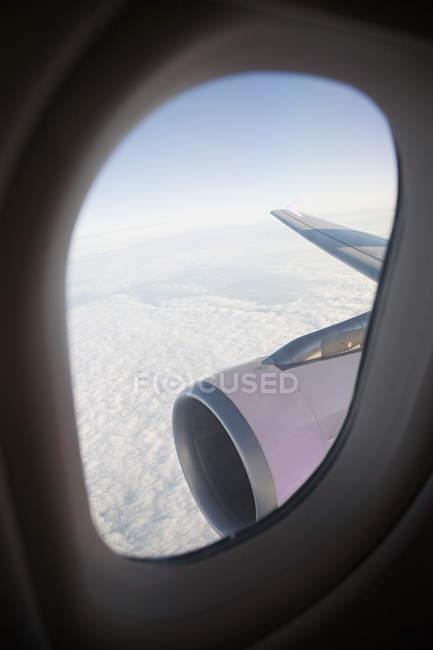 Vista da janela do avião — Fotografia de Stock
