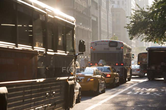 Движение в Нью-Йорке — стоковое фото