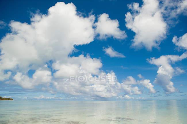 Nuages sur l'océan Pacifique Sud — Photo de stock