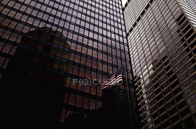 Vue faible angle d'immeubles de bureaux, Brooklyn, New York, é.-u. — Photo de stock