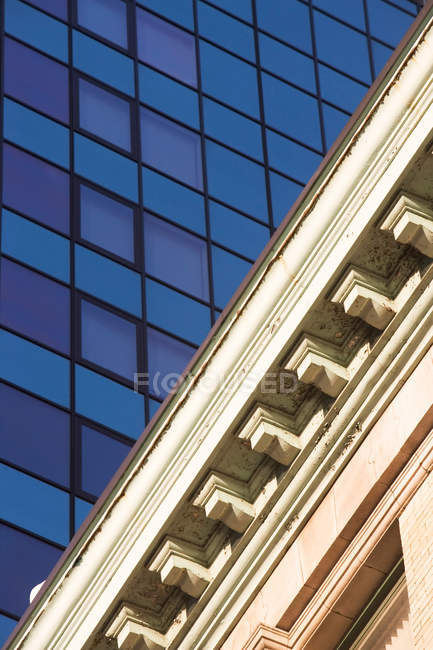 Old and modern architecture in New York city, united states of america — Stock Photo