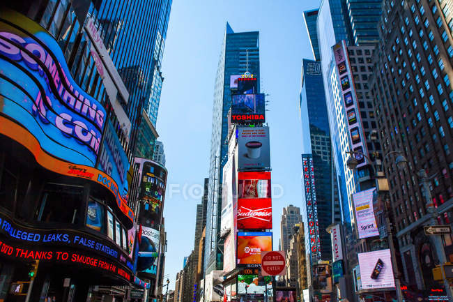 Immeubles de Times Square — Photo de stock