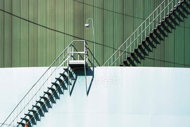 Metal stairway and industrial structure — Stock Photo