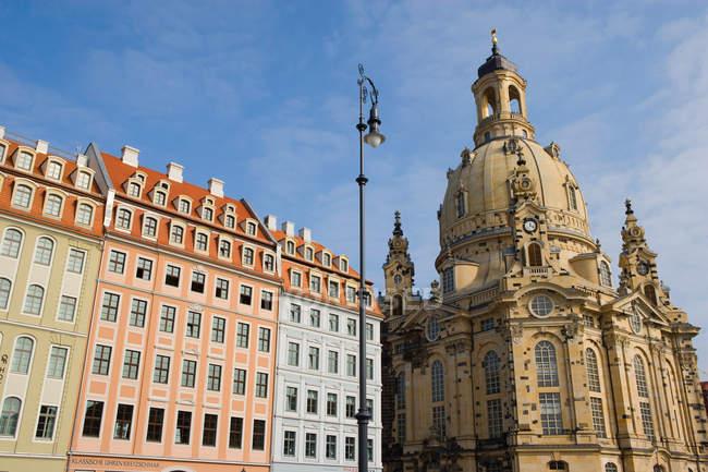 Frauenkirche and Neumarkt, Dresden, Germany — Stock Photo