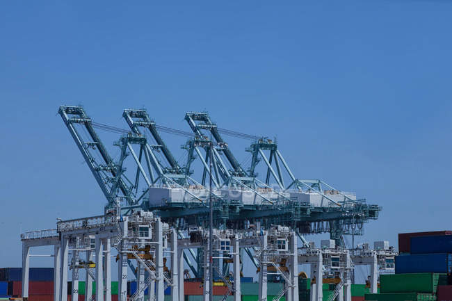 Grues maritimes au port de Los Angeles — Photo de stock