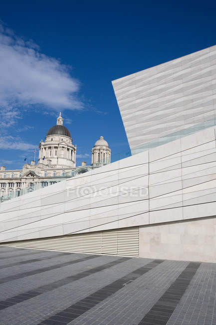 Museum of Liverpool and Port of Liverpool Building — Stock Photo