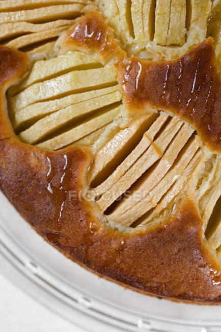Draufsicht der gekochten Apfelkuchen — Stockfoto