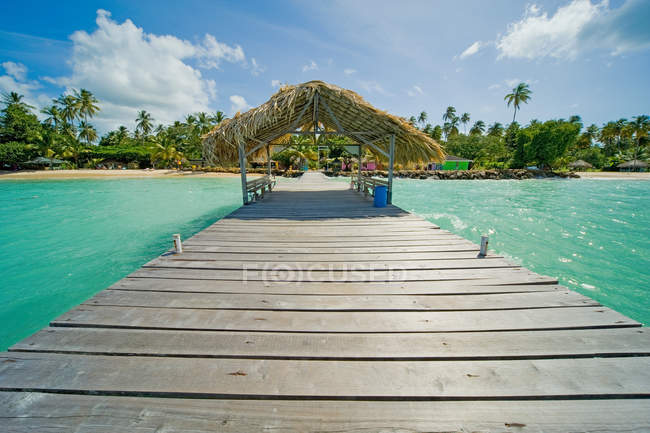 View of Jetty out to sea — Stock Photo