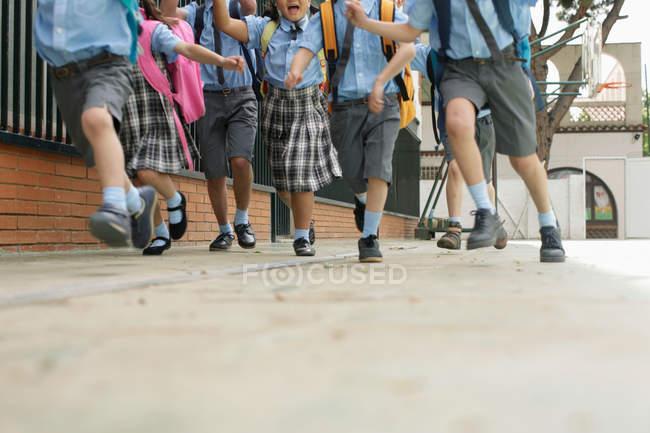 Running school children — Stock Photo