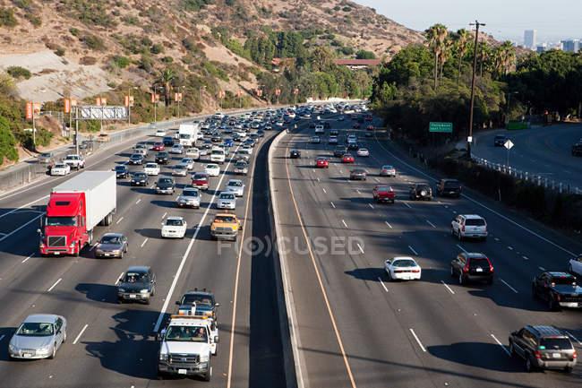 Interstate 405 at Sunset Bouledvard, Los Angeles County, California, USA — Stock Photo