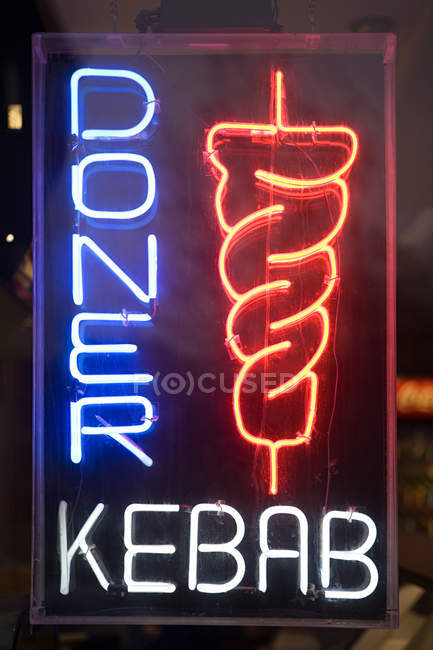 Kebab shop sign — Stock Photo