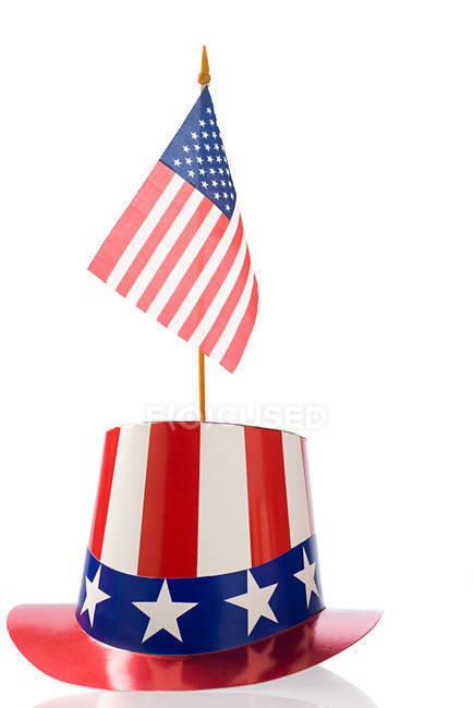 Independence day party hat wit us flag — Stock Photo