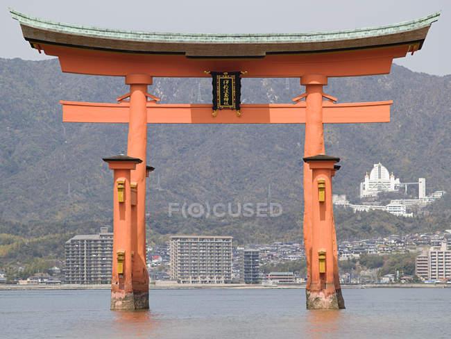 Observant la vue porte Torii, Japon — Photo de stock