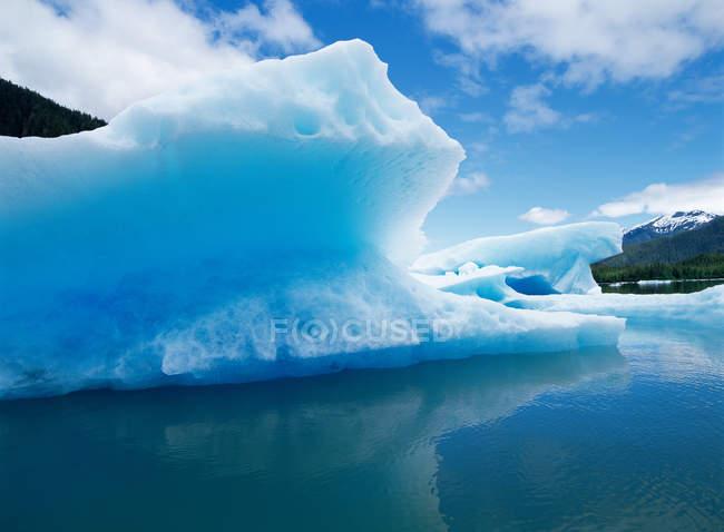 Veduta del ghiacciaio di Leconte, Alaska — Foto stock