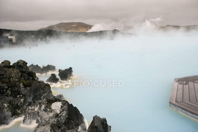 Blue lagoon geothermal hot springs — Stock Photo