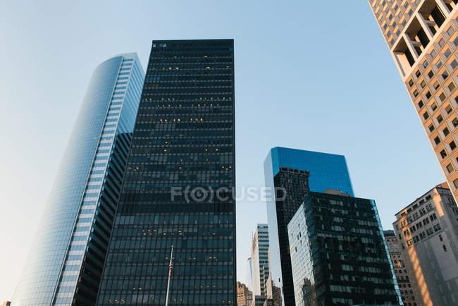 Edificios del distrito financiero, Nueva York, Estados Unidos - foto de stock