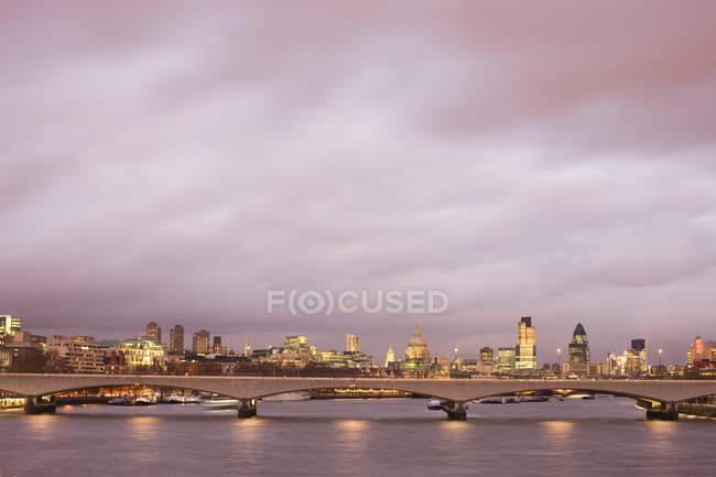 Skyline фінансового району Лондона — стокове фото