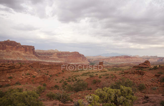 View of valley in Capitol Reef — Stock Photo